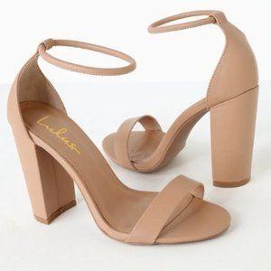 Lulu's Nude Ankle Strap Heels
